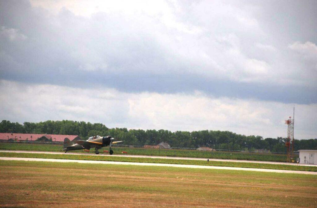 Japanese Zero Landing