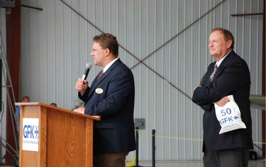 Patrick Dame And Mayor Michael Brown