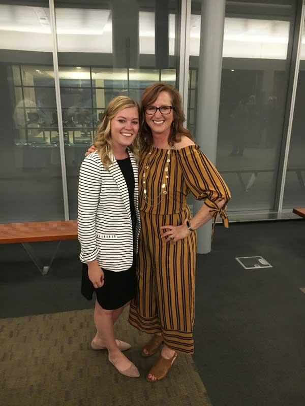 Korissa with Dr. Kim Kenville, Airport Management Professor at UND