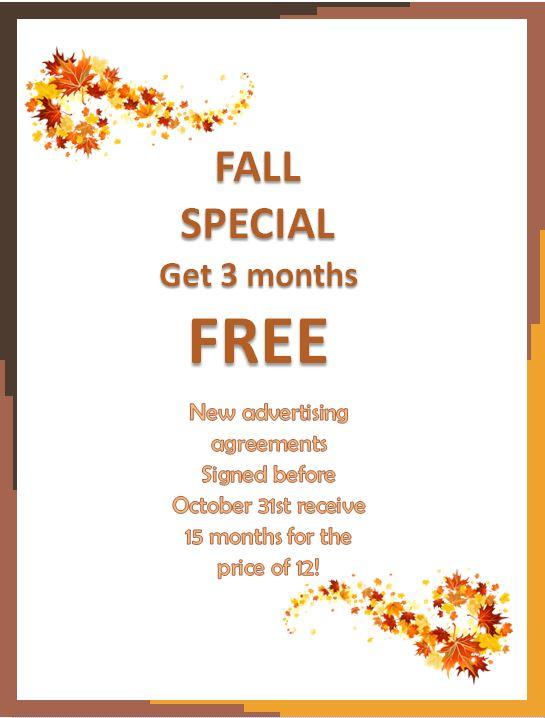 October Advertising Special