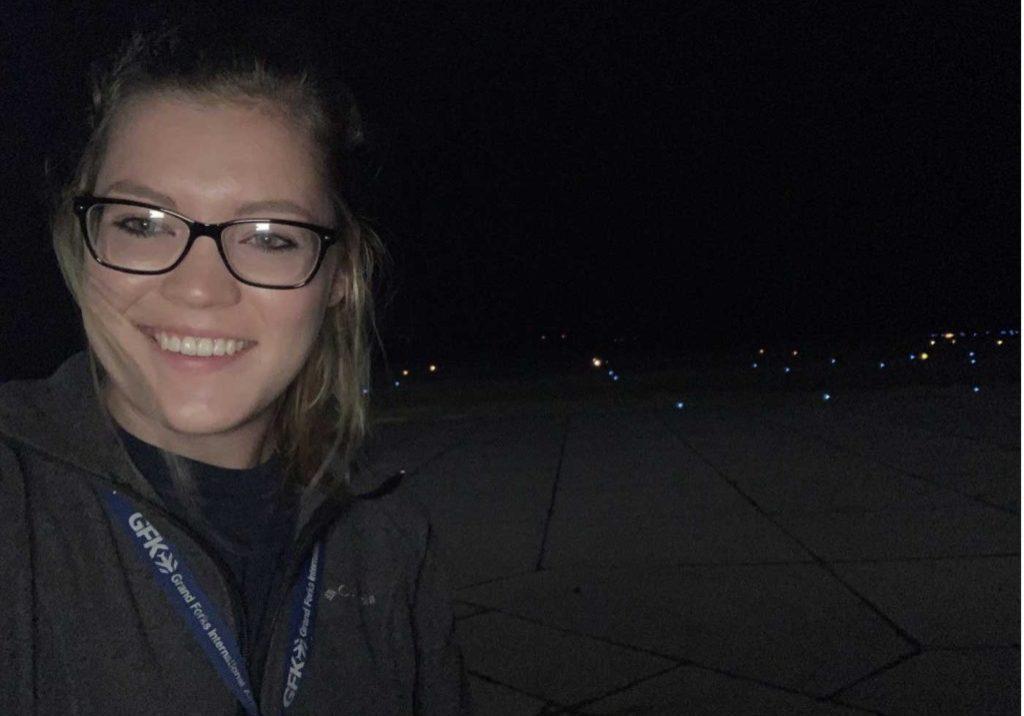 Korissa on an Airfield Inspection